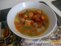 Фото к рецепту: Суп гороховый с копченостями