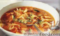 Фото к рецепту: Тосканский овощной суп с фасолью