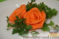 Фото к рецепту: Роза из моркови
