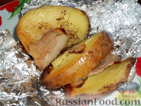 Фото к рецепту: Картофель, запеченный на углях