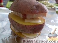 Фото приготовления рецепта: Картофель, запеченный на углях - шаг №7