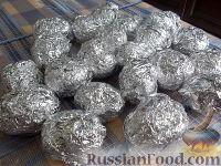 Фото приготовления рецепта: Картофель, запеченный на углях - шаг №8