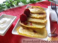 Фото к рецепту: Оладьи с клубникой