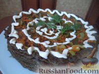 Фото к рецепту: Закусочный печеночный торт