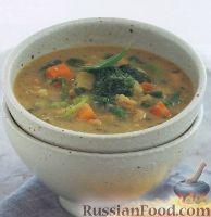 Фото к рецепту: Фасолевый суп с овощами