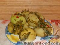 Фото к рецепту: Помидоры соленые по-грузински