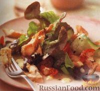 Фото к рецепту: Салат с копченой форелью