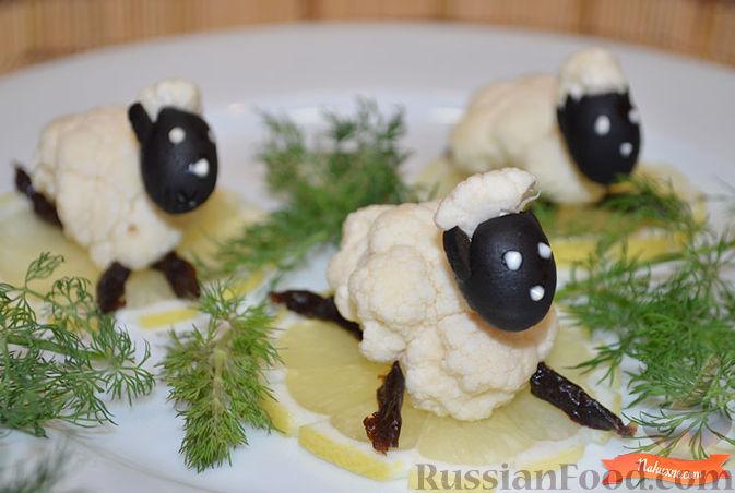 Салат овечка с и рецептом