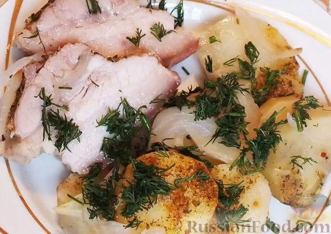 мясо свинины с картошкой в духовке рецепты