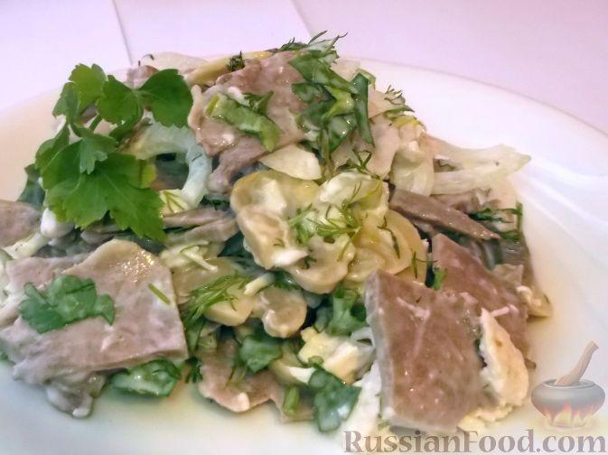 салаты из языка свиного рецепты