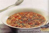 Фото к рецепту: Суп из кускуса с помидорами