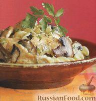 Фото к рецепту: Грибной соус с куриным мясом