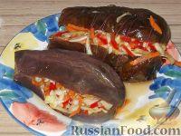 Фото к рецепту: Баклажаны фаршированные квашеные