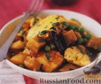 Фото к рецепту: Пряное рагу из картофеля, баклажанов и рыбы