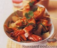 Фото к рецепту: Жареные креветки по-вьетнамски