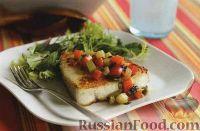 Фото к рецепту: Рыба-меч с овощным соте