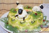 """Фото к рецепту: Новогодний салат """"Малахитовый браслет"""""""