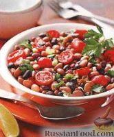Фото к рецепту: Фасолевый салат с помидорами