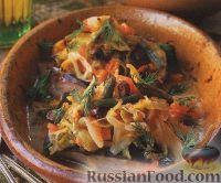 Фото к рецепту: Рыба, запеченная с овощами