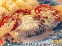 Фото к рецепту: Толстолобик, запеченный по-домашнему