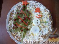 Фото к рецепту: Печеночный торт с луком и чесноком