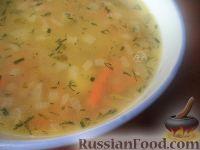 Фото к рецепту: Гороховый суп с малосольными огурцами