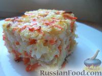 Фото к рецепту: Запеканка из моркови, яблок и риса