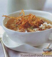 Фото к рецепту: Рисовый суп с мясными фрикадельками