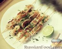 Фото к рецепту: Кальмары гриль