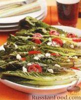 Фото к рецепту: Салатные листья, жаренные на гриле