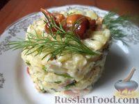 Фото к рецепту: Грибной салат «Нежность»