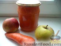 Фото к рецепту: Яблочно-морковный сок