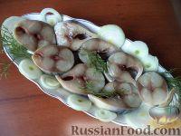 Фото к рецепту: Скумбрия  (и ставрида) соленая
