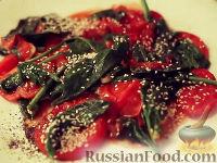 Фото к рецепту: Шпинат с помидорами