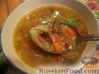 Фото к рецепту: Суп из сушеных грибов с вермишелью