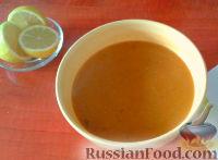 Фото к рецепту: Турецкий суп-пюре из красной чечевицы  (Мерджимек чорбасы)
