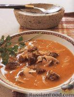 Фото к рецепту: Рисовый суп с мясом и кокосовым молоком