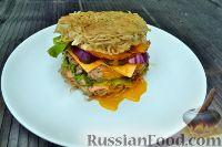 Фото к рецепту: Бургер из азиатской лапши