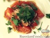 Фото к рецепту: Морской окунь с овощами