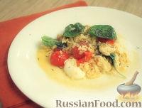 Фото к рецепту: Омлет с моцареллой и помидорами черри