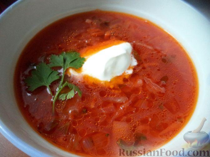 суп с капустой и свеклой рецепт с фото