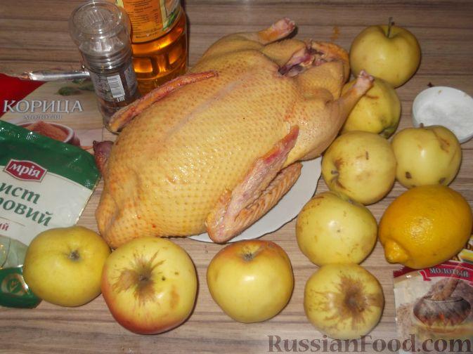 рецепт приготовления утки в духовке с яблоками с фото