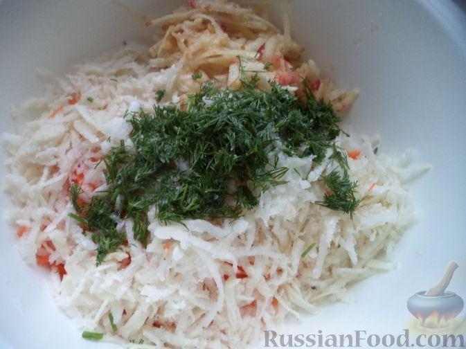 рецепт приготовления салата из редьки черной