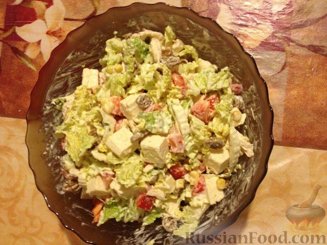 салат ревнивец с курицей и сухариками фото рецепт