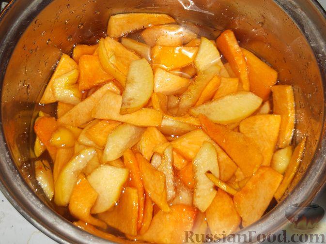 Фото приготовления рецепта: Варенье-минутка из тыквы и айвы - шаг №5