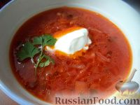 Фото к рецепту: Борщ с квашеной капустой