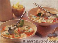 Фото к рецепту: Тайский рыбный суп