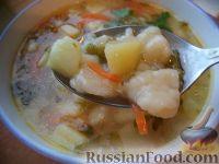 Фото к рецепту: Суп картофельный с клецками