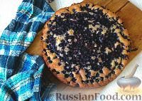 Фото к рецепту: Пирог с черной смородиной