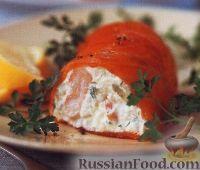 Фото к рецепту: Сырный мусс с рыбой и креветками